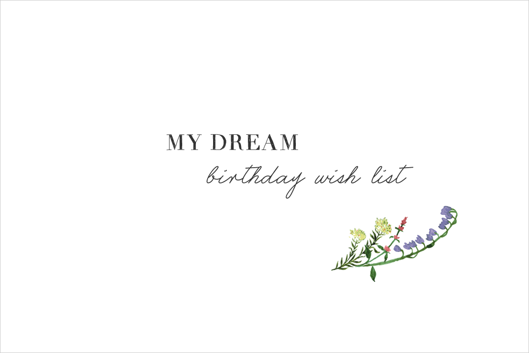 My Dream Birthday Wish List