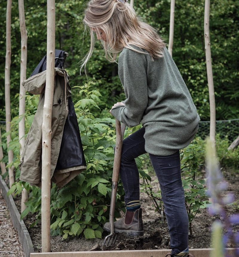 The Woodland Wife - Woodland Vegetable Garden - Grow Your Own - Celtic and Co - TROY London - Womens Knitwear